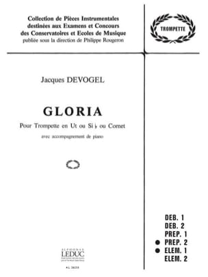 Gloria Jacques Devogel Partition Trompette - laflutedepan