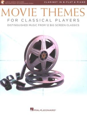 Movie Themes for Classical Players - Clarinet - Piano - Partition - di-arezzo.com