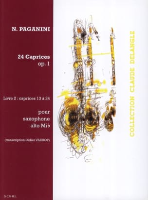 24 Caprices Opus 1 Volume 2 PAGANINI Partition laflutedepan