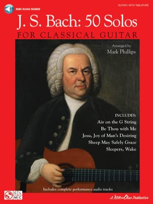 BACH - JS Bach: 50 solos para guitarra clásica - Partition - di-arezzo.es