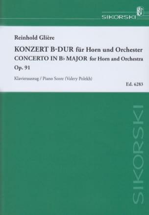 Concerto En Sib Majeur Opus 91 Reinhold Glière Partition laflutedepan