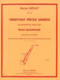28 Pièces variées Volume 2 Michel Mériot Partition laflutedepan