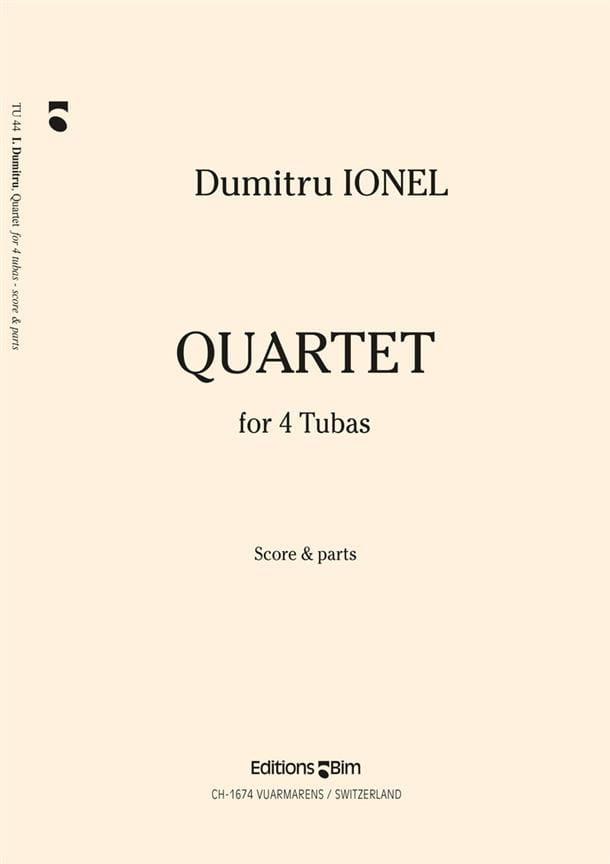 Quartet - Dumitru Ionel - Partition - Tuba - laflutedepan.com