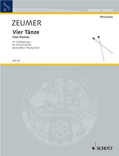 Vier Tänze Für 3 Schlagzeuger - Gerhard Zeumer - laflutedepan.com