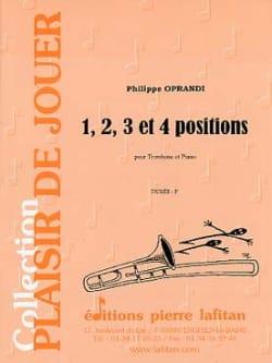 1, 2, 3 Et 4 Positions Philippe Oprandi Partition laflutedepan