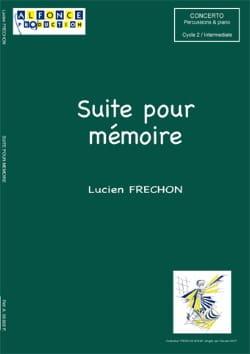 Suite Pour Mémoire - Lucien Fréchon - Partition - laflutedepan.com