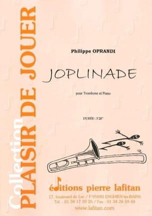 Joplinade Philippe Oprandi Partition Trombone - laflutedepan
