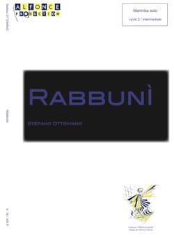 Rabbuni Stefano Ottomano Partition Marimba - laflutedepan