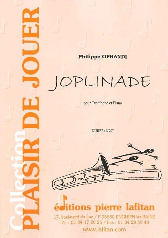 Joplinade - Philippe Oprandi - Partition - Trombone - laflutedepan.com