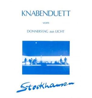 Karlheinz Stockhausen - Knabenduett - Partition - di-arezzo.co.uk
