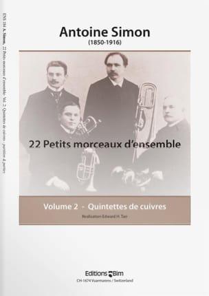 22 Petits Morceaux D' Ensemble Volume 2 Antoine Simon laflutedepan