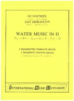 Water Music in D HAENDEL Partition Trompette - laflutedepan