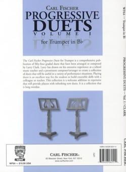 Progressive duets volume 1 for trumpet in Bb Partition laflutedepan