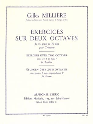 Exercices Sur 2 Octaves Gilles Millière Partition laflutedepan