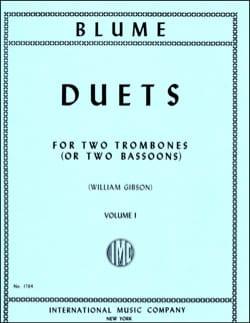 Duets Volume 1 O. Blume Partition Trombone - laflutedepan