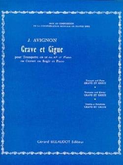 Grave Et Gigue Jean Avignon Partition Trompette - laflutedepan