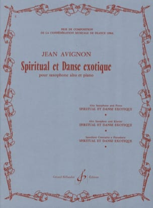 Spiritual Et Danse Exotique Jean Avignon Partition laflutedepan