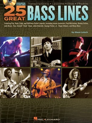 25 Great Bass Lines Partition Contrebasse - laflutedepan