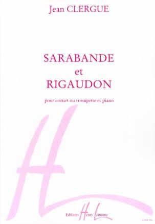 Sarabande & Rigaudon Jean Clergue Partition Trompette - laflutedepan
