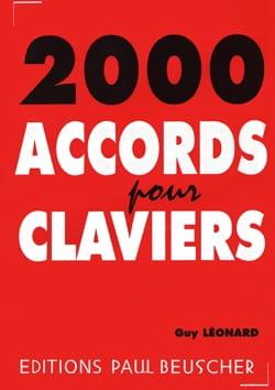 2000 Accords pour Claviers Guy Léonard Partition Piano - laflutedepan