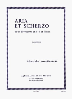 Aria et scherzo - Alexander Arutiunian - Partition - laflutedepan.com