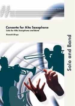 Concerto Partie Alto Ronald Binge Partition Saxophone - laflutedepan