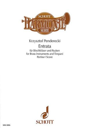 Entrata Score - PENDERECKI - Partition - laflutedepan.com