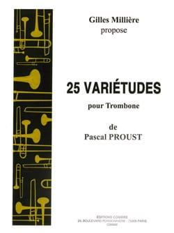 25 Variétudes pour trombone Pascal Proust Partition laflutedepan