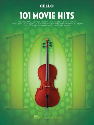 101 Movie Hits For Cello Partition Violoncelle - laflutedepan