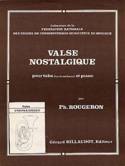 Valse Nostalgique Philippe Rougeron Partition Tuba - laflutedepan