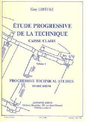 Etude Progressive de la Technique Volume 1 Guy Lefèvre laflutedepan