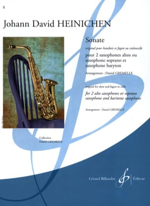 Sonate HEINICHEN Partition Saxophone - laflutedepan