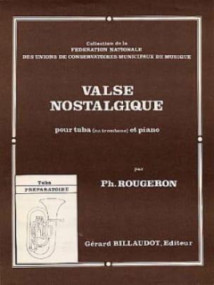 Valse Nostalgique - Philippe Rougeron - Partition - laflutedepan.com