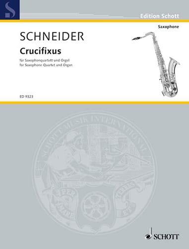 Crucifixus - Enjott Schneider - Partition - laflutedepan.com