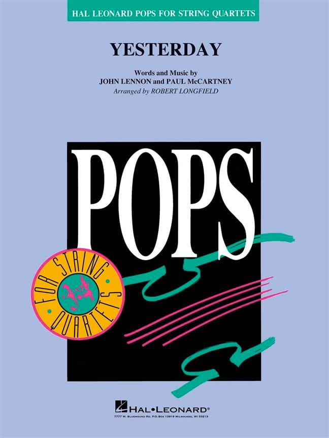 Yesterday - Pops For String Quartets - Beatles - laflutedepan.com