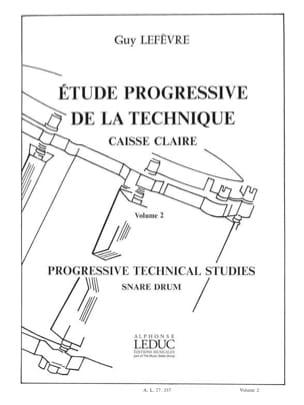 Etude Progressive de la Technique - Volume 2 Guy Lefèvre laflutedepan