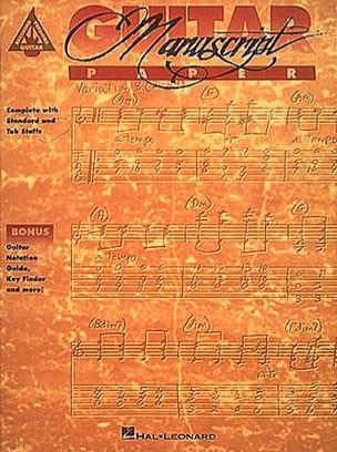 Guitar Manuscrit Paper Accessoire Guitare - laflutedepan