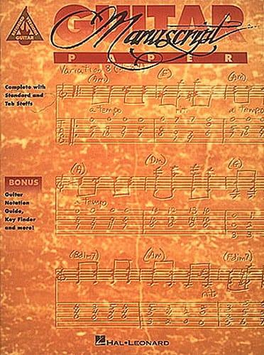 Guitar Manuscrit Paper - Accessoire - Guitare - laflutedepan.com