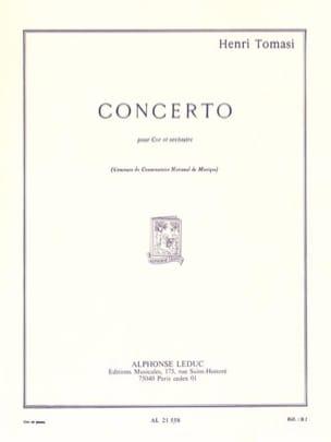 Concerto TOMASI Partition Cor - laflutedepan