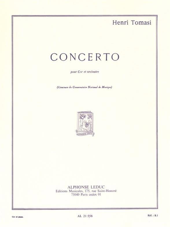 Concerto - TOMASI - Partition - Cor - laflutedepan.com