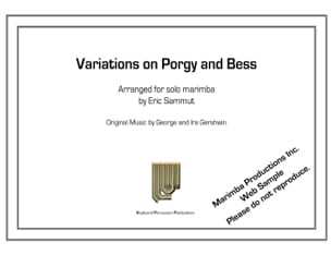 Eric Sammut - Variations on Porgy and Bess - Partition - di-arezzo.co.uk