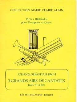 3 Grands Airs de Cantates BACH Partition Trompette - laflutedepan