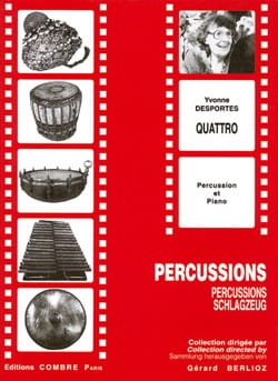 Quattro Yvonne Desportes Partition Multi Percussions - laflutedepan