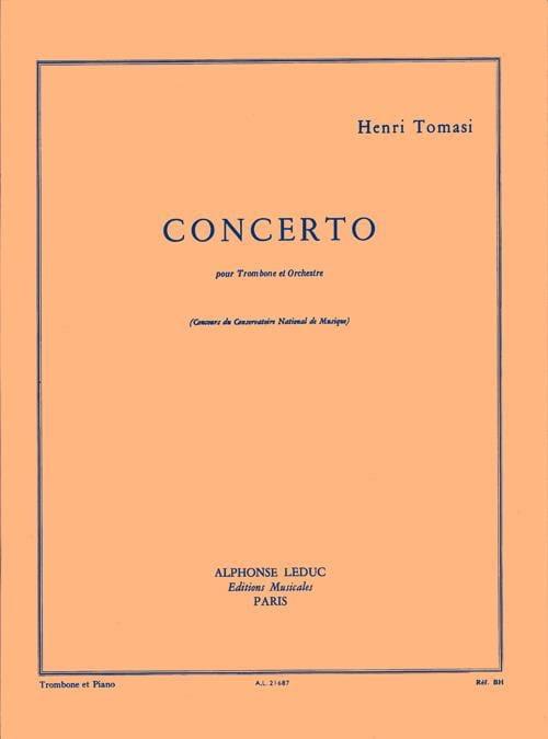 Concerto - TOMASI - Partition - Trombone - laflutedepan.com