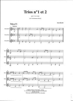 Trios N° 1 et Trio N° 2 Eric Hulin Partition Cor - laflutedepan