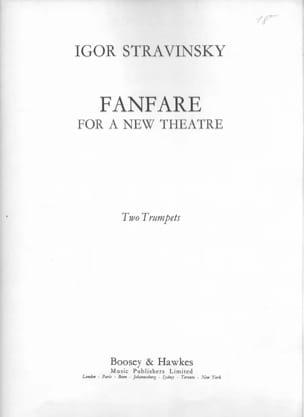 Fanfare For A New Theatre STRAVINSKY Partition laflutedepan