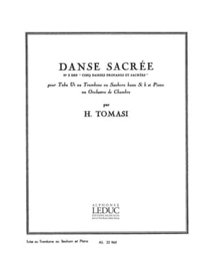 Danse Sacrée TOMASI Partition Tuba - laflutedepan