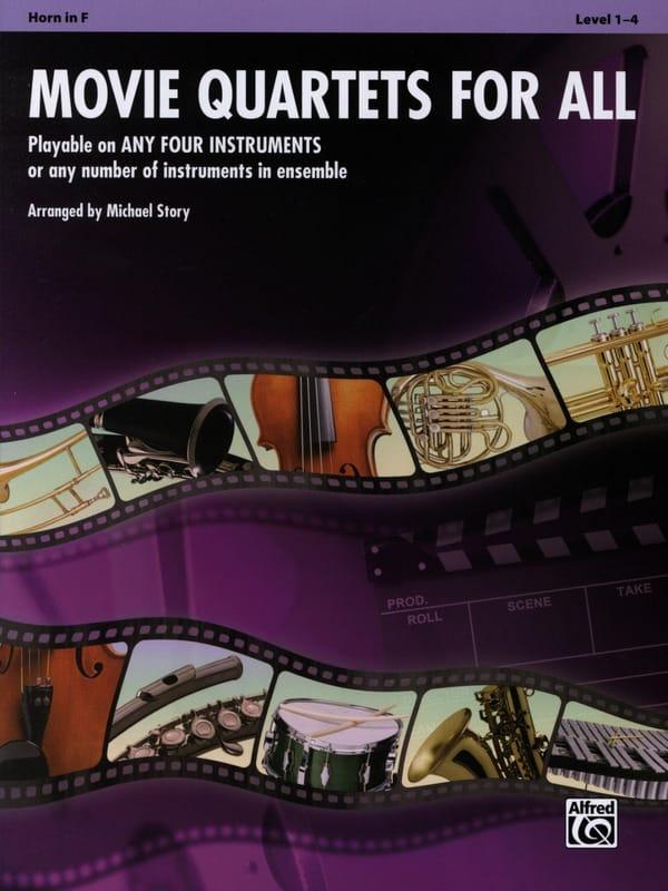 Movie quartets for all - Partition - Cor - laflutedepan.com