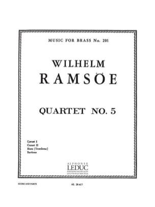 Quartet N° 5 Wilhem Ramsoe Partition laflutedepan
