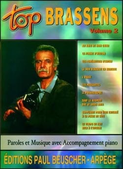 Georges Brassens - Top Brassens Volume 2 - Partition - di-arezzo.co.uk